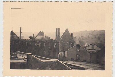 (F28993) Orig. Foto zerstörte Brauerei in Walsheim 1939