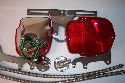 1953-56 Ford F100 all STAINLESS tail light kit, nine piece, new.