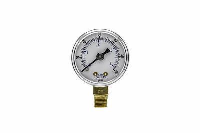 Dry Pressure Gauge 1.5 Dial 0-60 Psi 18 Npt Male Thread Size Bottom Mount
