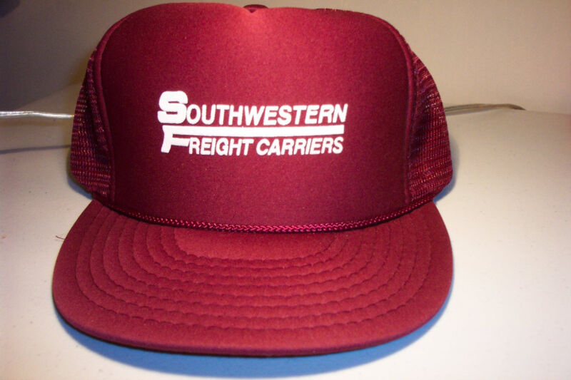 Southwestern Freight Carriers vintage trucker style hat 1980