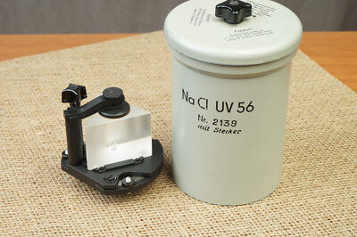 New Huge Sodium Chloride Nacl Crystal Prism 65x65x50mm By Carl Zeiss Jena