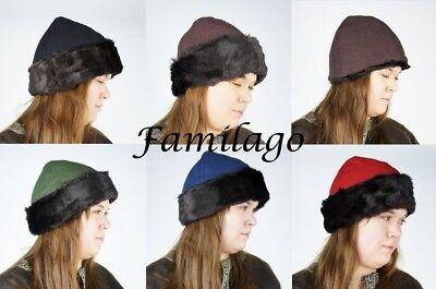 Wikinger Kappe Mütze Hut Mittelalter Kopfbedeckung Mittelalter Vikinger*20