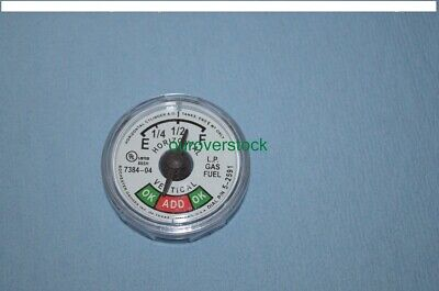 Forklift Snap In On Propane Tank Sight Gauge Dial Fuel Level Steel Aluminum Lpg