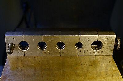 Hose Crimper Dies 6 Piece Set - Air Hydraulic Pneumatic - 63 58 53 48 68