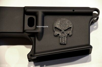 3D Decal, Sticker, Punisher Skull for AR15 Magwell, Stock or any Gun Riffle