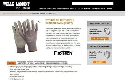 Wells Lamont Y9277 Size L Flextech Gloves - New - Dozen Pair