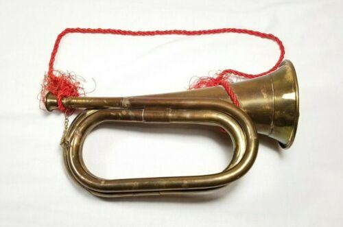 "Antique Style US Military Civil War Brass Bugle 11"""