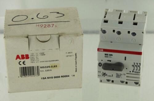 ABB ASEA BROWN BOVERI MS325-0.63 MANUAL MOTOR STARTER NEW