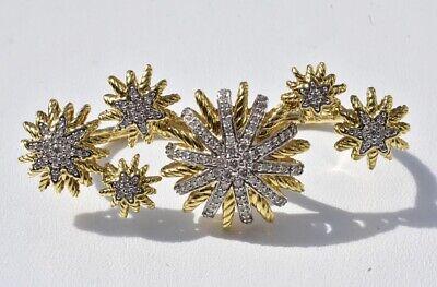 David Yurman Starburst Diamond Ring 18k