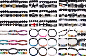 New Unisex Chakra Lava Bracelets Over 50 Different Styles