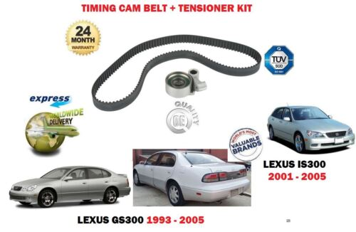FOR LEXUS GS300 IS300 3.0 2JZ-GE 1993-2005 NEW TIMING CAM BELT + TENSIONER KIT