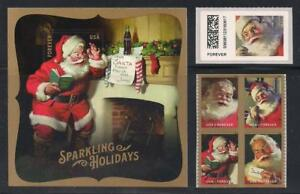 SANTA CLAUS - VINTAGE COCA-COLA ADVERTISING - COMPLETE SET U.S. CHRISTMAS STAMPS