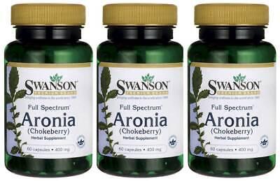 Swanson Full Spectrum Aronia (Chokeberry) 400mg 180 Caps Antioxidant + Bonus - Full Spectrum Antioxidant