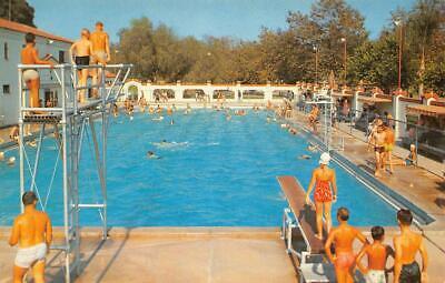 ORANGE, CA Orange City Park Swimming Pool Orange County 1957 Vintage Postcard