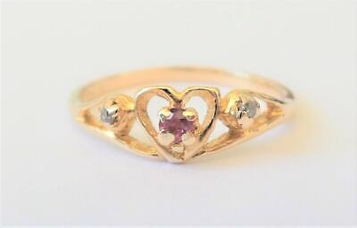 Very pretty .4 carat ruby ring 14K yellow gold ring size 6.75