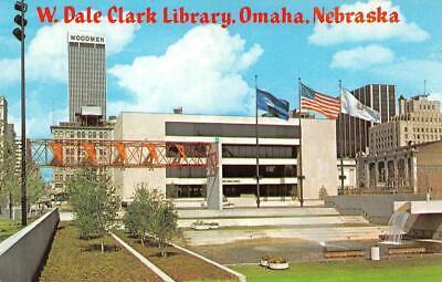 OMAHA, NE Nebraska  W DALE CLARK LIBRARY~Central Park Mall   Chrome (Omaha Nebraska Mall)