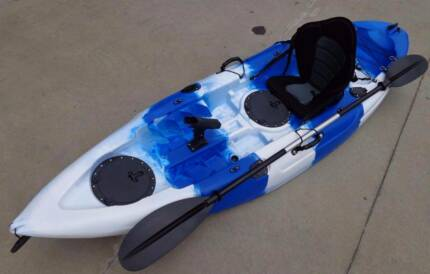 NEW SINGLE KAYAK FISHING KAYAK SIT ON KAYAK CANOE CAMPING