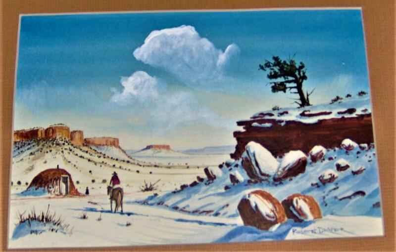 Navajo Winter, Watercolor Painting by Robert D. Draper, Signed