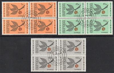 CYPRUS USED 1965 SG267-69 Europa Block of 4 Set