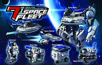 Educational Toy Solar Powered 7-in-1 Space Fleet Transforming Science DIY Robot