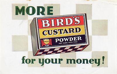"ORIGINAL 1924 MAGAZINE AD FOR BIRD'S CUSTARD - ""MORE FOR YOUR MONEY"" 1929"