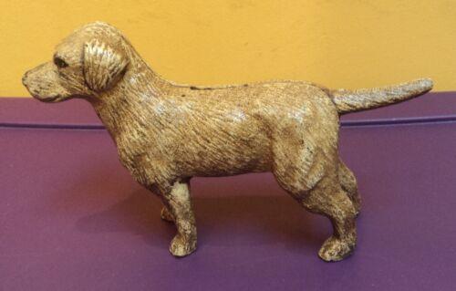 Cast Iron Yellow Labrador Dog Coin Bank