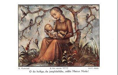 """Fleißbildchen Heiligenbild Gebetbild """" Hummel """" Holy card Ars sacra"""" H640"""""""