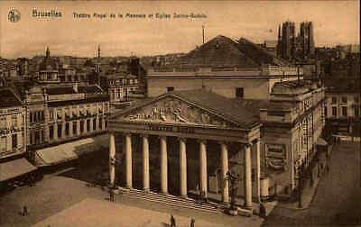 Brüssel BRUXELLES Belgien Carte Postale Postkarte ~1910 Theater Theatre Royal AK