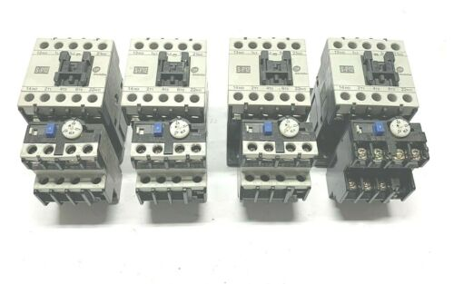 LOT OF 4 SHIHLIN S-P12 MAGNETIC CONTACTOR W/ TH-P12