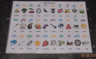(Blends and Digraphs posters All A4 size AND also available in flash cards)