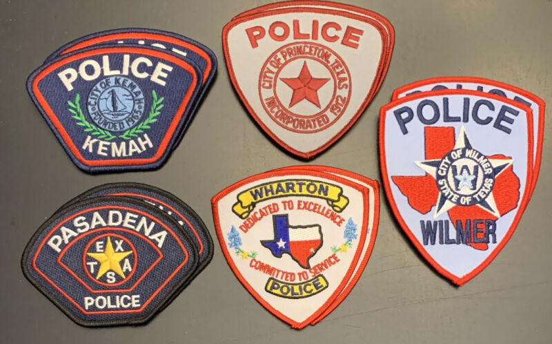 10 Texas Police Department Patches Collect And Trade Patch Lot C