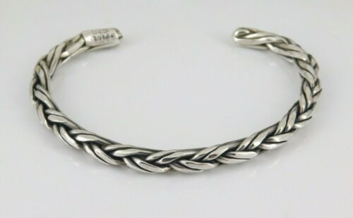 Vintage Mexico 925 Sterling Silver Twisted Cuff Bracelet