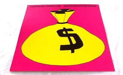 Teenage Fanclub BANDWAGONESQUE 1991 RARE Poster promo flat 12x12 LP COVER ART AD