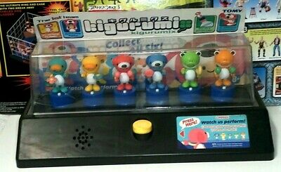 Vintage Tomy Kigurumix Bottle Cap figure The First Team Set Store Promo Display