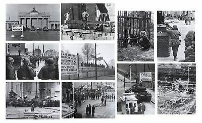 Berlin Wall 25 Photo Collection Lot, Brandenburg Gate German Soldiers Police