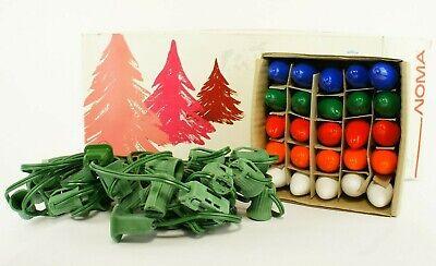 "Vintage NOMA 25 Outdoor Lite Set 25"" Long UL Christmas Lights Decoration 1989"