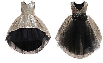 Wedding Glitter Sequin Tulle Flower girl Dress Toddler Bridesmaid Easter ZG9](Easter Girl Dresses)