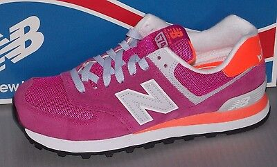 WOMENS NEW BALANCE WL 574 CPI in colors LIGHT PURPLE / ORANGE / GREY  SIZE 7