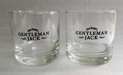 Two Stunning Jack Daniels GENTLEMAN JACK Tennessee Whiskey Glass Tumblers - NEW
