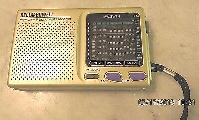 Vintage Bell & Howell 9 Band World Receiver Shortwave Transistor Radio fm/mw/sw