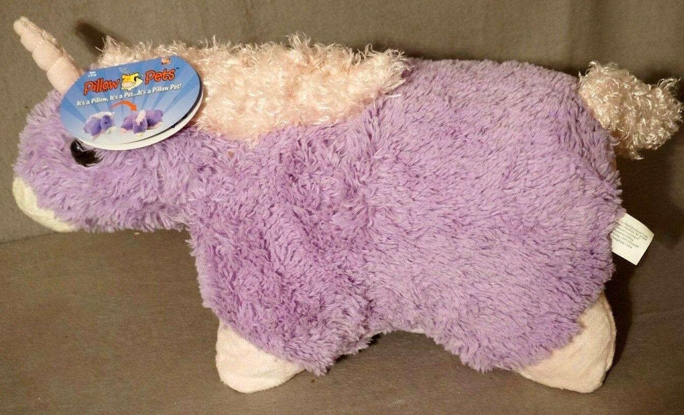 "Pillow Pets Signature Magical Unicorn, 18"" Stuffed Animal Pl"