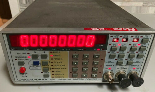 RACAL-DANA 1992 Nanosecond 3 Input Universal Frequency Digital Counter AS IS