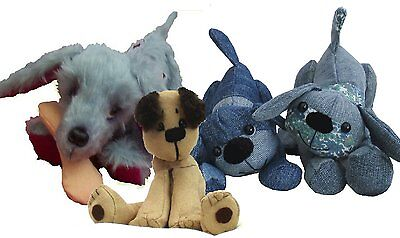 Three playful puppy dog soft toy sewing patterns by pcbangles