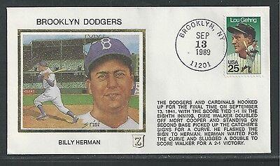 1989 BROOKLYN DODGERS, BILLY HERMAN,  BASEBALL SPORTS