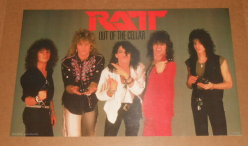 Ratt Out of the Cellar 1984 Poster Vintage 34x22