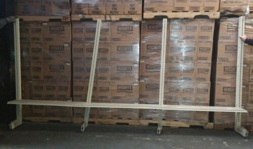 "4 Cantilever Uprights w 12 Shelves, Uprights 2.5"" x 13.75 x 72.5"", Shelves 48"" w"
