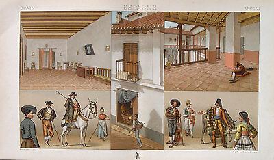 n Madrid Segovia Andalusien Sevilla Esel Kostüm Tracht Patio (Reiten Esel Kostüm)