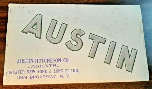 1907 Austin Automobile Company Model LX  advertising Booklet Catalog car auto
