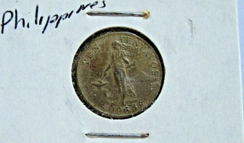 1963 10 CENTAVOS COIN - PHILIPPINES  -   FREE SHIPPING !