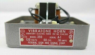 Federal Signal Vibratone Horn 120v Model 350 Gray T5
